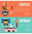 shipment and logistic banners vector image