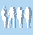 silhouettes of beautiful girls vector image vector image