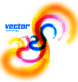 spiral card with blurred edge vector image