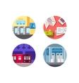 Subway flat icons vector image vector image