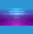 technology banner line effects tech pink blue vector image