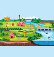 theme amusement park landscape scene and many vector image vector image