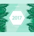trendy summer banner poster with tropical plants vector image vector image