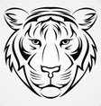 Tribal Tiger Head vector image vector image