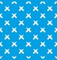 two crossed pencils pattern seamless blue vector image vector image