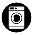 Washing machine button vector image