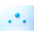 water blue molecule h2o science background vector image