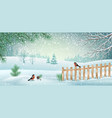 winter landscape vector image