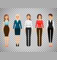 women in office dress code clothes vector image vector image