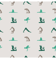 yoga pattern vector image vector image