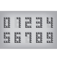 set 0-9 number zero-nine alphabet geometric icon vector image