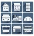 buildings set vector image