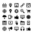 seo and digital marketing glyph icons 3 vector image