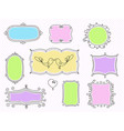 a set of decorative frames vector image vector image