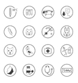 A set of flat vet icons vector image
