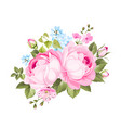a spring decorative bouquet roses flowers vector image vector image