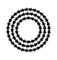abstract black arrows round frame or border