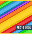abstract multicolored stripes background vector image vector image