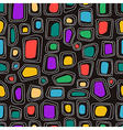 abstract shapes on black background vector image vector image