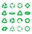 arrows recycling icons vector image