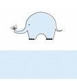 Baby boy shower card with cute elephant vector image vector image