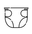 baby diapers icon design clip art line icon vector image vector image