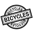 Bicycles rubber stamp vector image