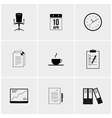 Black and white set of icons vector image vector image