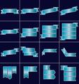 Blue ribbon icons set vector image
