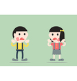 boy and girl are toothache vector image
