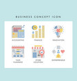 business concept icons vector image vector image