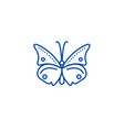 butterfly line icon concept butterfly flat vector image vector image