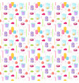 candles seamless pattern vector image