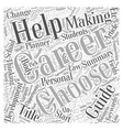 Career A Self Help Guide Word Cloud Concept vector image vector image