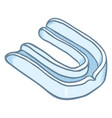 cartoon blue mouth guard for boxing or mixed vector image vector image