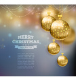 Christmas balls template background vector image vector image