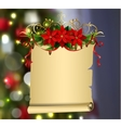 Christmas Greeting Card mock up vector image