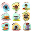 coffee shop emblems set vector image vector image