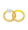 couple golden rings 3d graphic design vector image