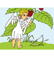 Cupid and berries vector image vector image