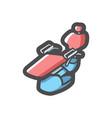 dental chair clinic icon cartoon vector image