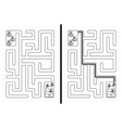 Easy bees maze vector image vector image