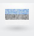 flag of estonia made up of small dots vector image vector image
