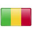 Flags Mali in the form of a magnet on refrigerator vector image vector image