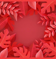 flat abstract coral leaves pattern vector image vector image