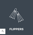 flippers line icon vector image vector image