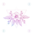 Flowers in hipster triangles vector image vector image