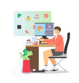 freelancer working from home flat vector image