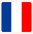 french square flag button social media vector image vector image