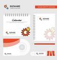 gear logo calendar template cd cover diary and vector image vector image